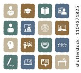 learning icons. grunge color... | Shutterstock .eps vector #1104371825