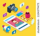 blogging and social media...   Shutterstock .eps vector #1104379475