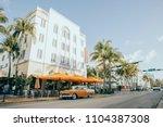 miami  united states of america ...   Shutterstock . vector #1104387308