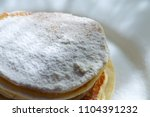 close up traditional pancakes... | Shutterstock . vector #1104391232