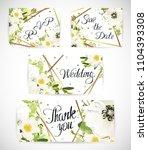 wedding floral template invite  ...   Shutterstock .eps vector #1104393308