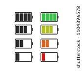 batery icon  vector flat design   Shutterstock .eps vector #1104396578