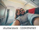 young handsome couple taking a... | Shutterstock . vector #1104396965