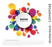 colorful creative badge   tag... | Shutterstock .eps vector #1104409268