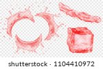 set of translucent semicircular ... | Shutterstock .eps vector #1104410972
