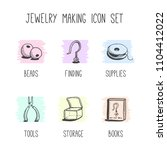 vector set of hand drawn icons... | Shutterstock .eps vector #1104412022