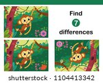 find 7 differences education... | Shutterstock .eps vector #1104413342