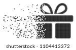fractured gift dot vector icon...   Shutterstock .eps vector #1104413372