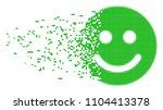 fractured glad smile dot vector ...   Shutterstock .eps vector #1104413378