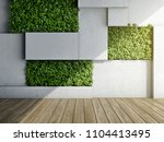 wall in modern interior with... | Shutterstock . vector #1104413495