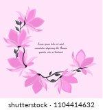 vector illustration branches... | Shutterstock .eps vector #1104414632