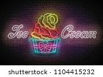 vintage poster with ice cream...   Shutterstock .eps vector #1104415232