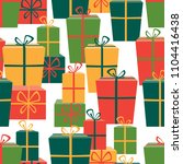 pattern of the gifts boxes | Shutterstock .eps vector #1104416438