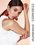 portrait of beautiful sexy... | Shutterstock . vector #1104418112