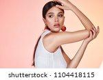 portrait of beautiful sexy... | Shutterstock . vector #1104418115