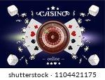 casino background roulette... | Shutterstock .eps vector #1104421175