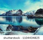 scenic view of beautiful winter ... | Shutterstock . vector #1104434825