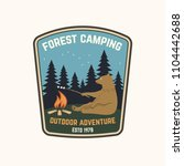 forest camping. outdoor... | Shutterstock .eps vector #1104442688