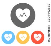 cardiac pulse. heart and pulse... | Shutterstock .eps vector #1104442892