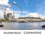london  uk   26 april  2018 ... | Shutterstock . vector #1104444542