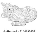 adult coloring book page a... | Shutterstock .eps vector #1104451418