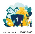 vector flat illustration ... | Shutterstock .eps vector #1104452645