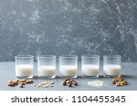 different types of vegan non... | Shutterstock . vector #1104455345