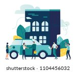 vector modern flat illustration ... | Shutterstock .eps vector #1104456032