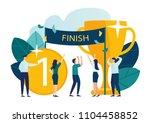 vector modern flat illustration ... | Shutterstock .eps vector #1104458852