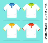 t shirt template  model with... | Shutterstock .eps vector #1104459746