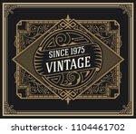 vintage logo inside of floral... | Shutterstock .eps vector #1104461702