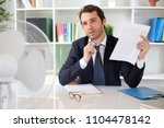 businessman trying to refresh... | Shutterstock . vector #1104478142