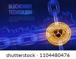 nem. crypto currency. block... | Shutterstock .eps vector #1104480476