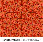 ikat tribal art print. seamless ...   Shutterstock .eps vector #1104484862