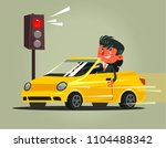 angry bad rushing driver car... | Shutterstock .eps vector #1104488342