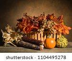 Horizontal Photo Of An Autumn...
