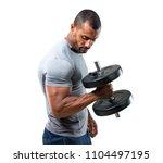 strong handsome sport man... | Shutterstock . vector #1104497195