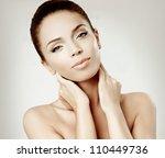 beautiful girl face. perfect... | Shutterstock . vector #110449736
