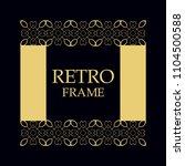 vintage ornamental border frame ... | Shutterstock .eps vector #1104500588
