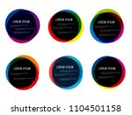 set of round colorful  round... | Shutterstock .eps vector #1104501158