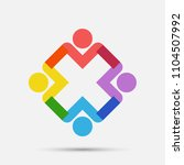 meeting room people logo.group... | Shutterstock .eps vector #1104507992