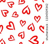 repeated outlines of hearts... | Shutterstock .eps vector #1104509342