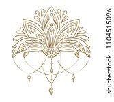 hand drawn vector lotus flower. ... | Shutterstock .eps vector #1104515096