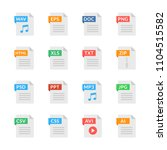 document icons. file formats.... | Shutterstock .eps vector #1104515582