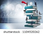 education concept with books... | Shutterstock . vector #1104520262