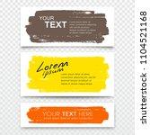 vector business card brush... | Shutterstock .eps vector #1104521168