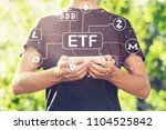cryptocurrency etf theme with... | Shutterstock . vector #1104525842