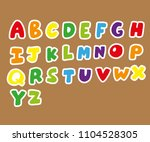 cute design alphabet  | Shutterstock .eps vector #1104528305