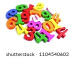 math number colorful on white...   Shutterstock . vector #1104540602