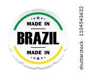 made in brazil flag button... | Shutterstock .eps vector #1104543632